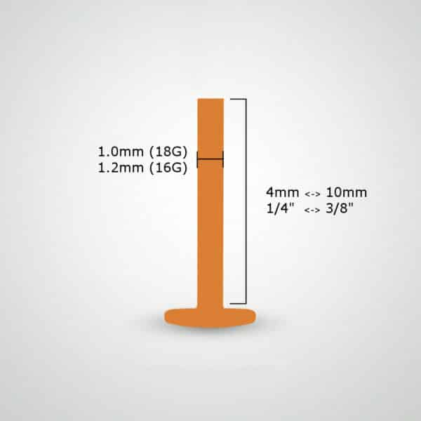 labret-measurement-18G-16G