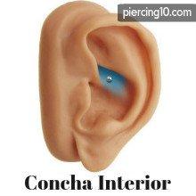 piercing concha interior