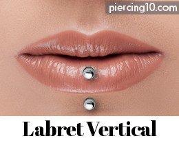 piercing labret vertical