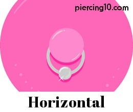 Piercing pezon horizontal