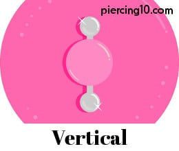 Piercing pezon vertical